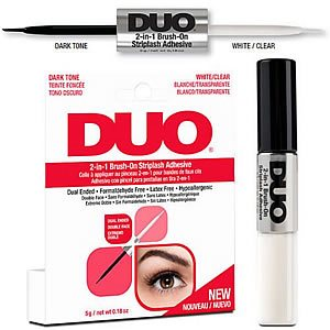 DUO 2-in-1 Brush-On Striplash Adhesive Clear + Black