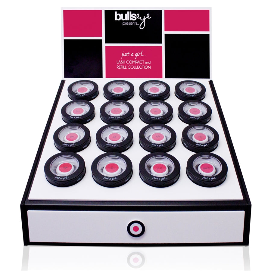 Bullseye Center Retail Lash Compact Display