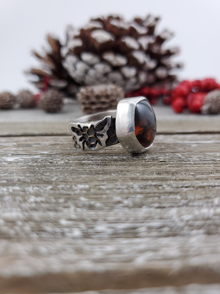 Honeybee Ring Size 9.75 - WOOD BISON METAL