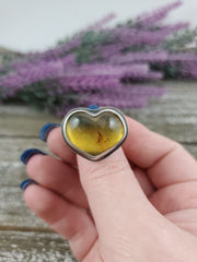 Amber Heart Ring #2