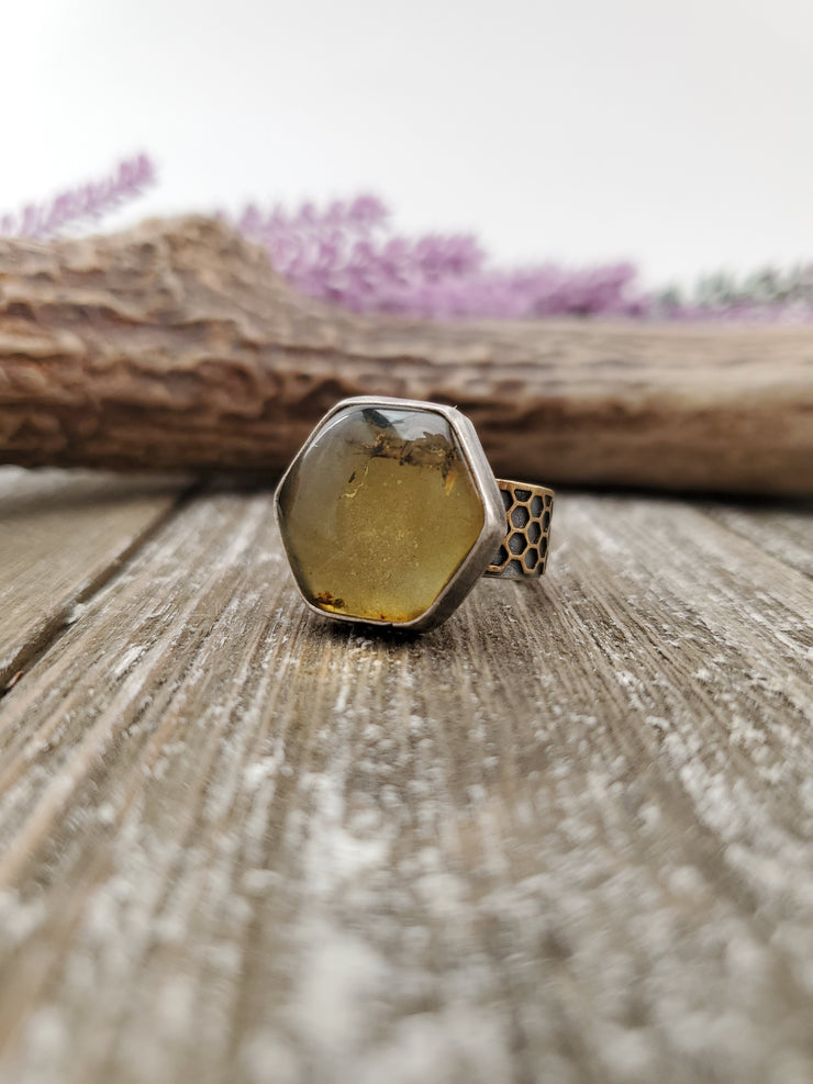 Honeybee Ring for E - WOOD BISON METAL