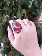 Fuchsia Secret Garden Ring for Jessica - WOOD BISON METAL