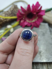 Simple Kyanite Ring Size 7.75 - Wood Bison Metal