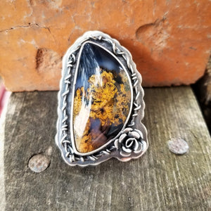 Purple Moss Agate Statement Ring