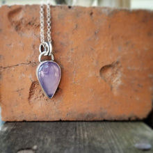 Load image into Gallery viewer, Purple Chalcedony Necklace