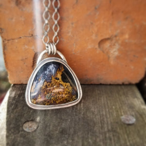 Purple Posie Moss Agate Necklace