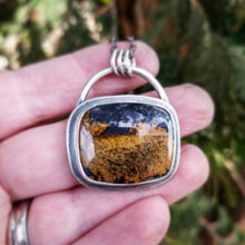 Load image into Gallery viewer, Purple Posie Moss Agate Square Necklace