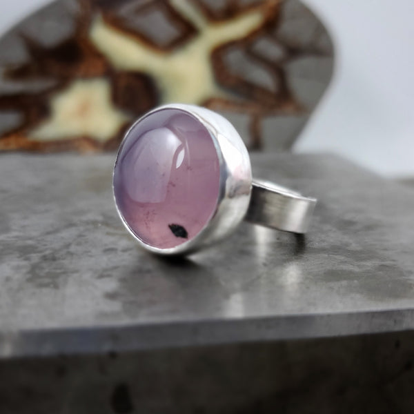 RESERVED: Clarity Purple Chalcedony Ring #2 Size 10