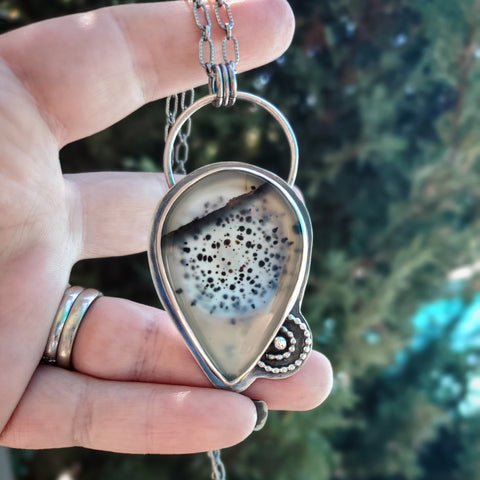 Montana Agate Clarity Necklace #1