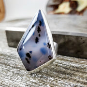 Appaloosa Cocktail Ring Size 9 - WOOD BISON METAL