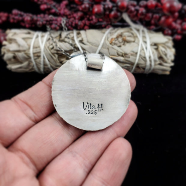 Cabin in the North Necklace #1 - WOOD BISON METAL