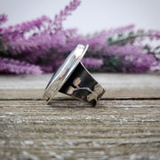 Floral Aura Flowery Band Ring #3