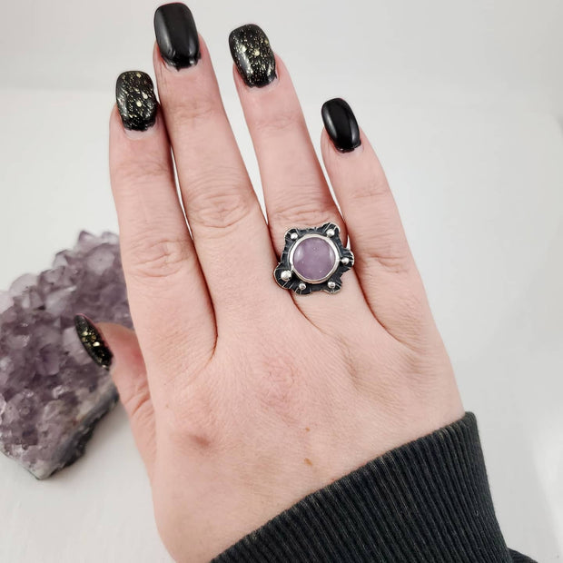 Lavender Amethyst Cloud Ring - WOOD BISON METAL
