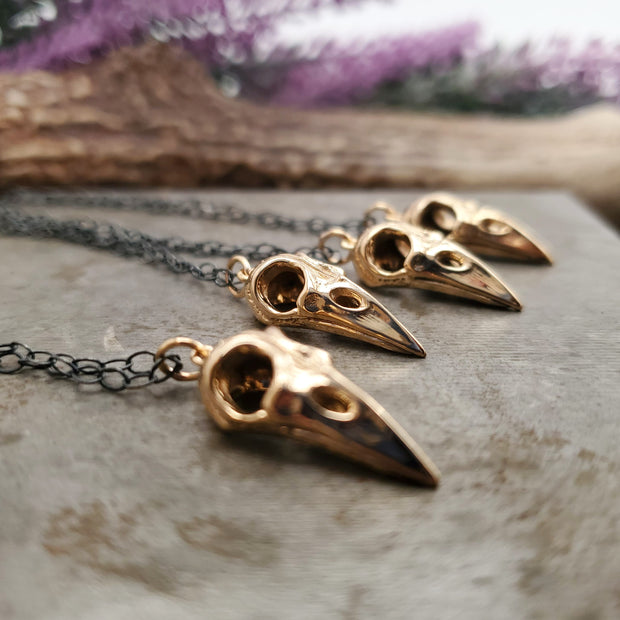 Bronze Bird Skull Pendant - WOOD BISON METAL