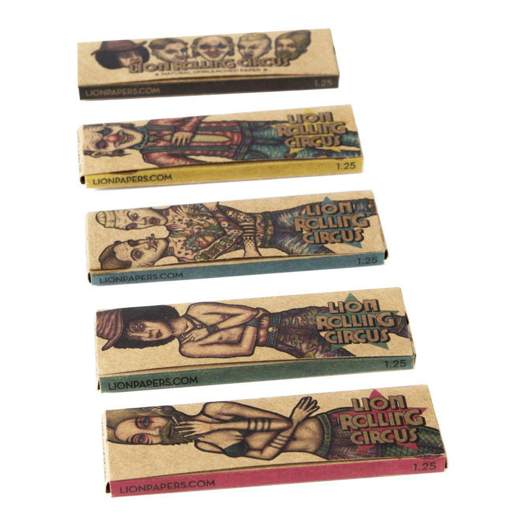 1 1/4 Lion Rolling Circus UNBLEACHED Natural Rolling Papers