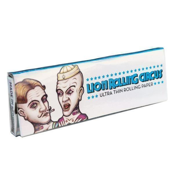 "1 1/4 Lion Rolling Circus ULTRA-THIN ""SILVER LINE"" Natural Rolling Papers"