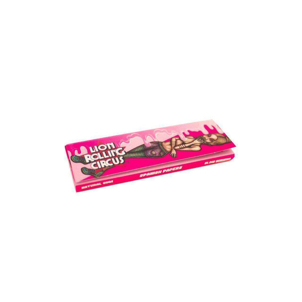 1 1/4 Lion Rolling Circus FLAVORED Rolling Papers - CHEWING MADNESS (Bubble Gum)