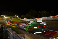 Bentley at Eau Rouge by night