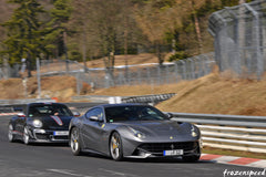 Ferraris on the Nurburgring: F12 Porsche duel