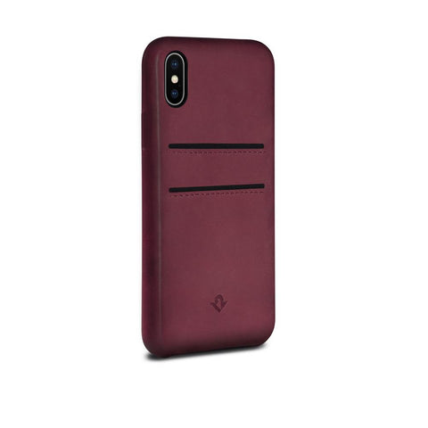Relaxed Leather case with pockets - iPhone X/XS - Marsala