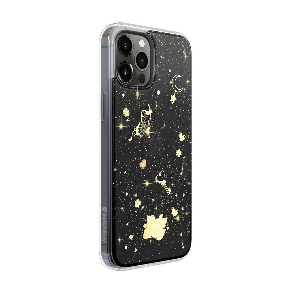 Lucky Tracy iPhone 12 / 12 Pro - Transparent Black