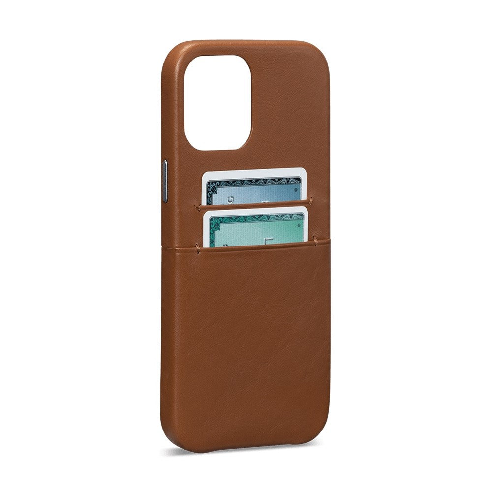 Snap On Wallet Case for iPhone 12 Pro Max - Brown
