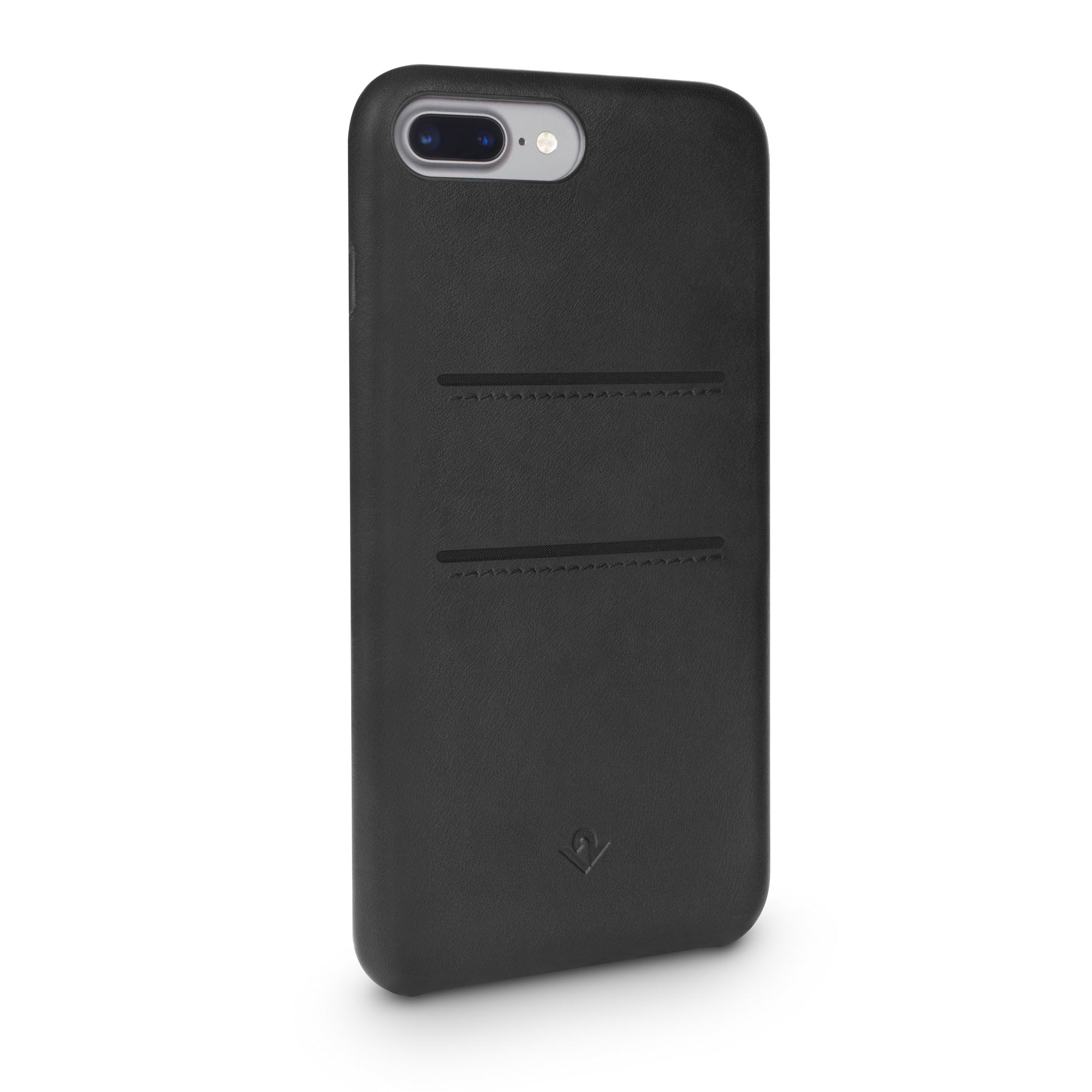 Relaxed Leather case with pockets for iPhone 7/8 Plus - Black