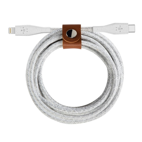 DuraTek Plus USB-C to Lightning Cable - White