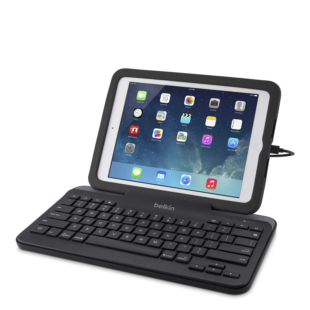 Wired Tablet Keyboard with Stand for iPad