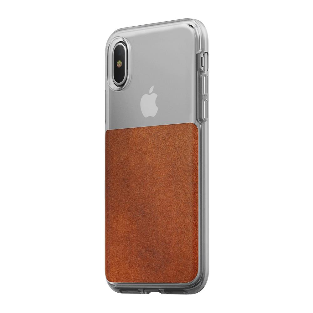 Leather Case - Clear - iPhone X/XS - Horween Brown
