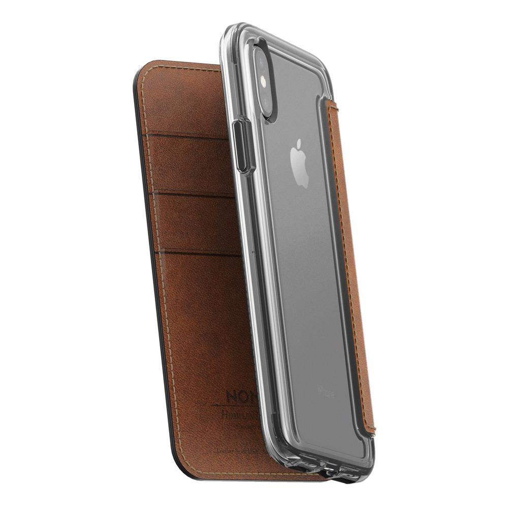 Leather Folio - Clear - iPhone X/XS - Horween Brown