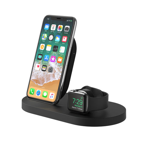 Boost Up Wireless Dock for Apple Watch & iPhone - Black