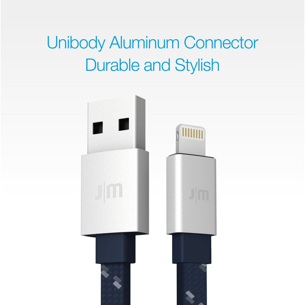 AluCable Flat - Silver/Blue - 1.2m