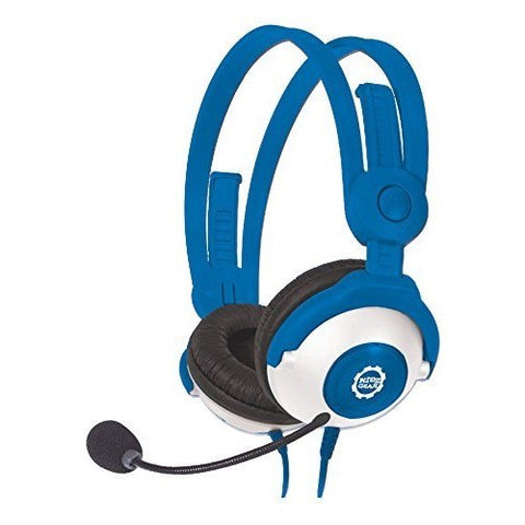 Wired Headphones with boom microphone - Blue