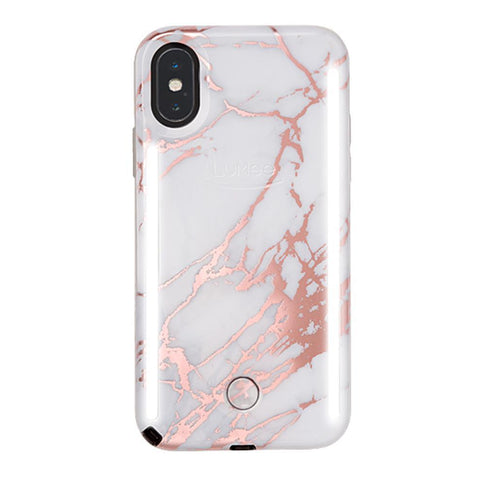 DUO for iPhone XS Max - Metallic Rose White Marble