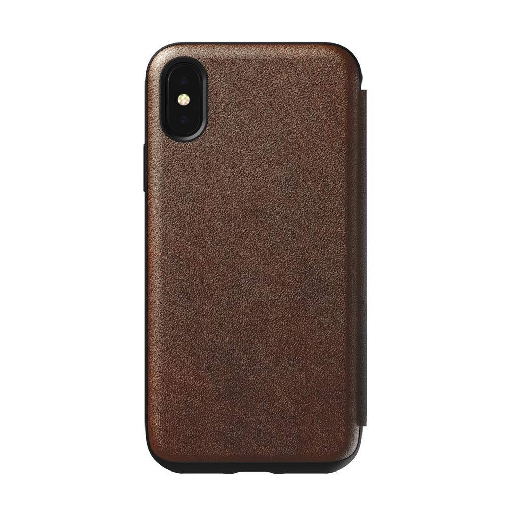 Tri Fold Folio - iPhone X/XS - Rustic Brown