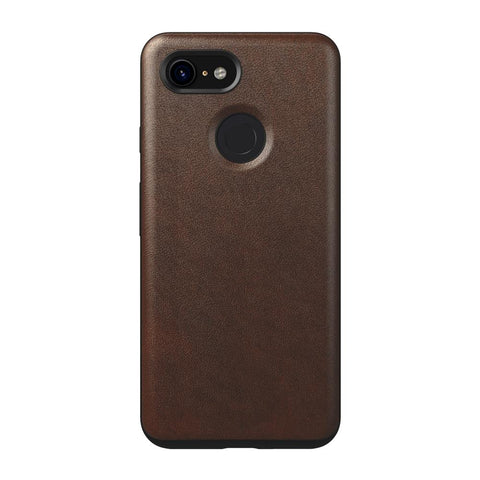 Leather Case - Rugged - Google Pixel 3 - Rustic Brown