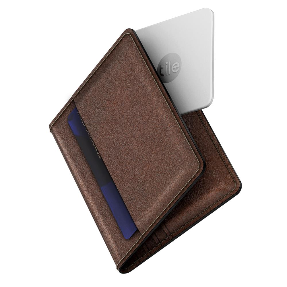 Slim Wallet with Tile - Brown