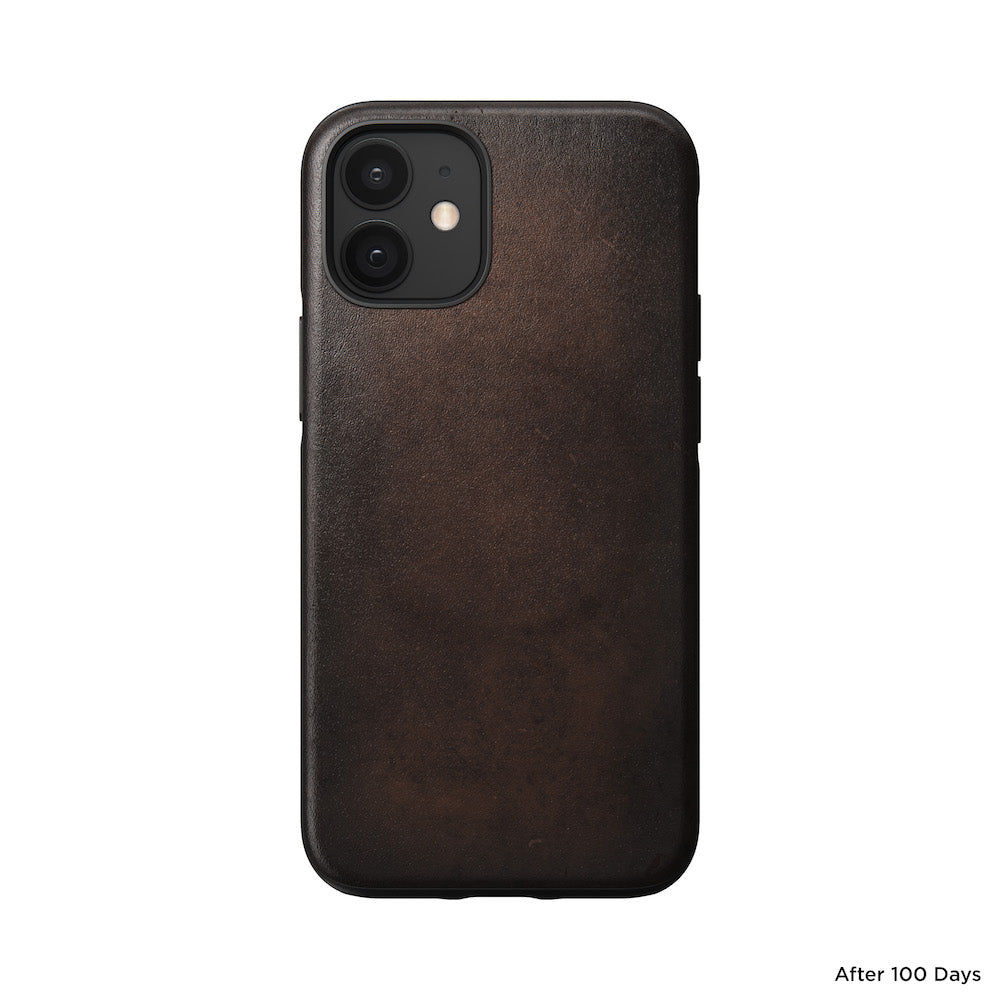 MagSafe Leather Case - iPhone 12 Mini - Rustic Brown
