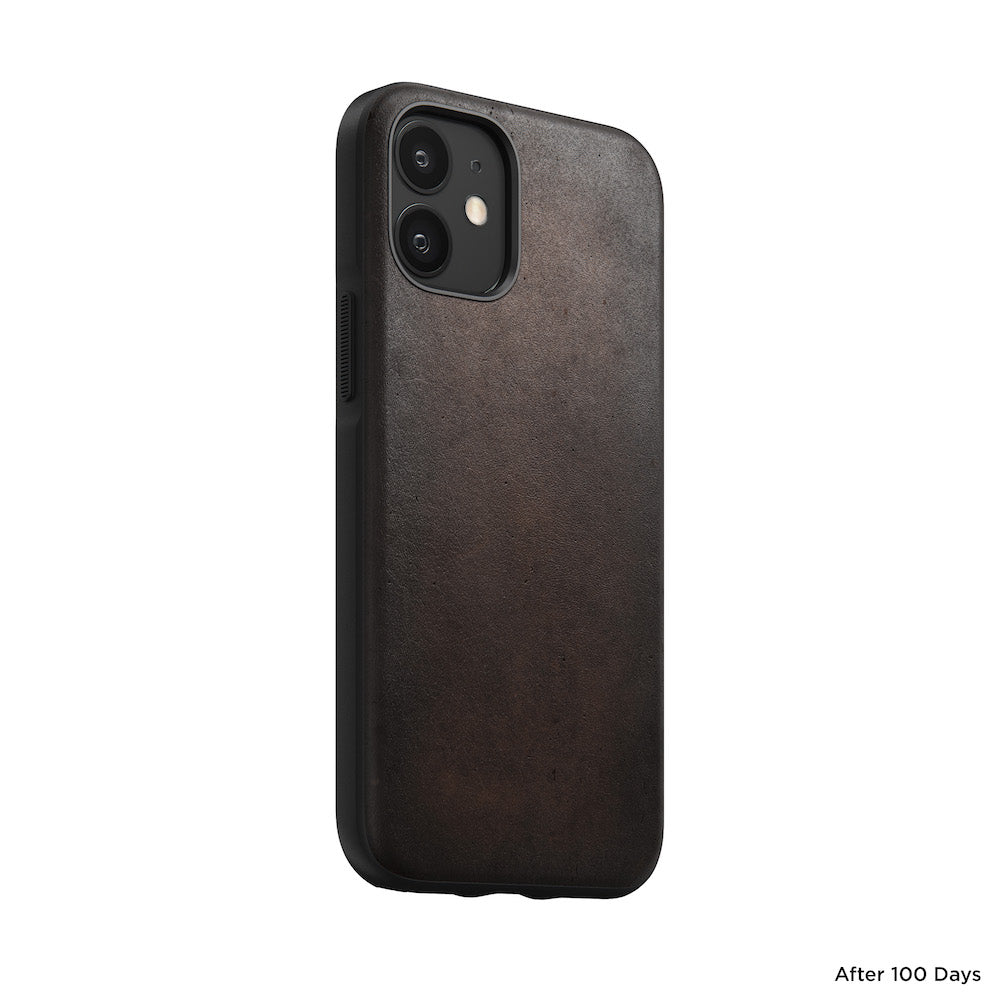 Leather Case - Rugged - iPhone 12 Mini - Brown