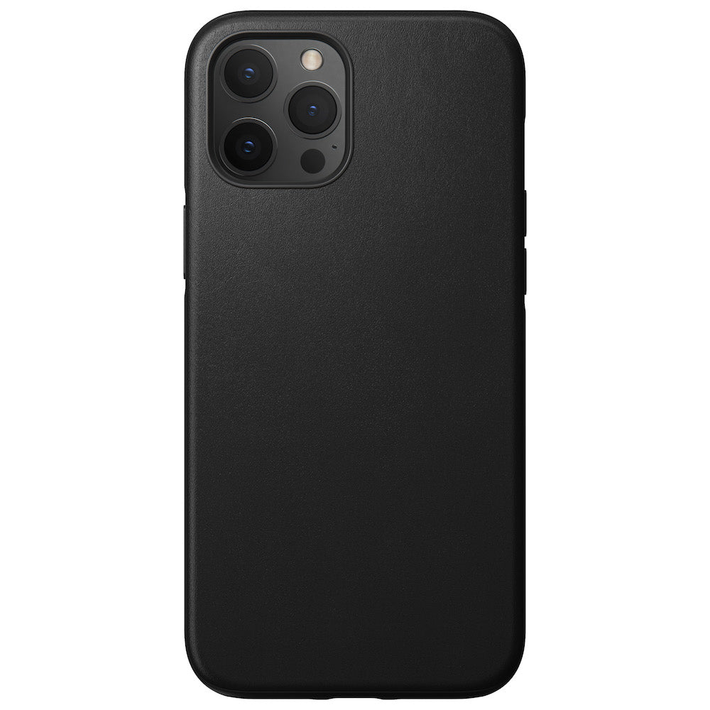Leather Case - Rugged - iPhone 12 Pro Max - Black