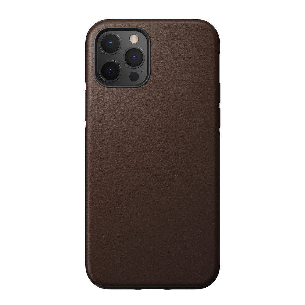 Leather Case - Rugged - iPhone 12/12 Pro - Brown