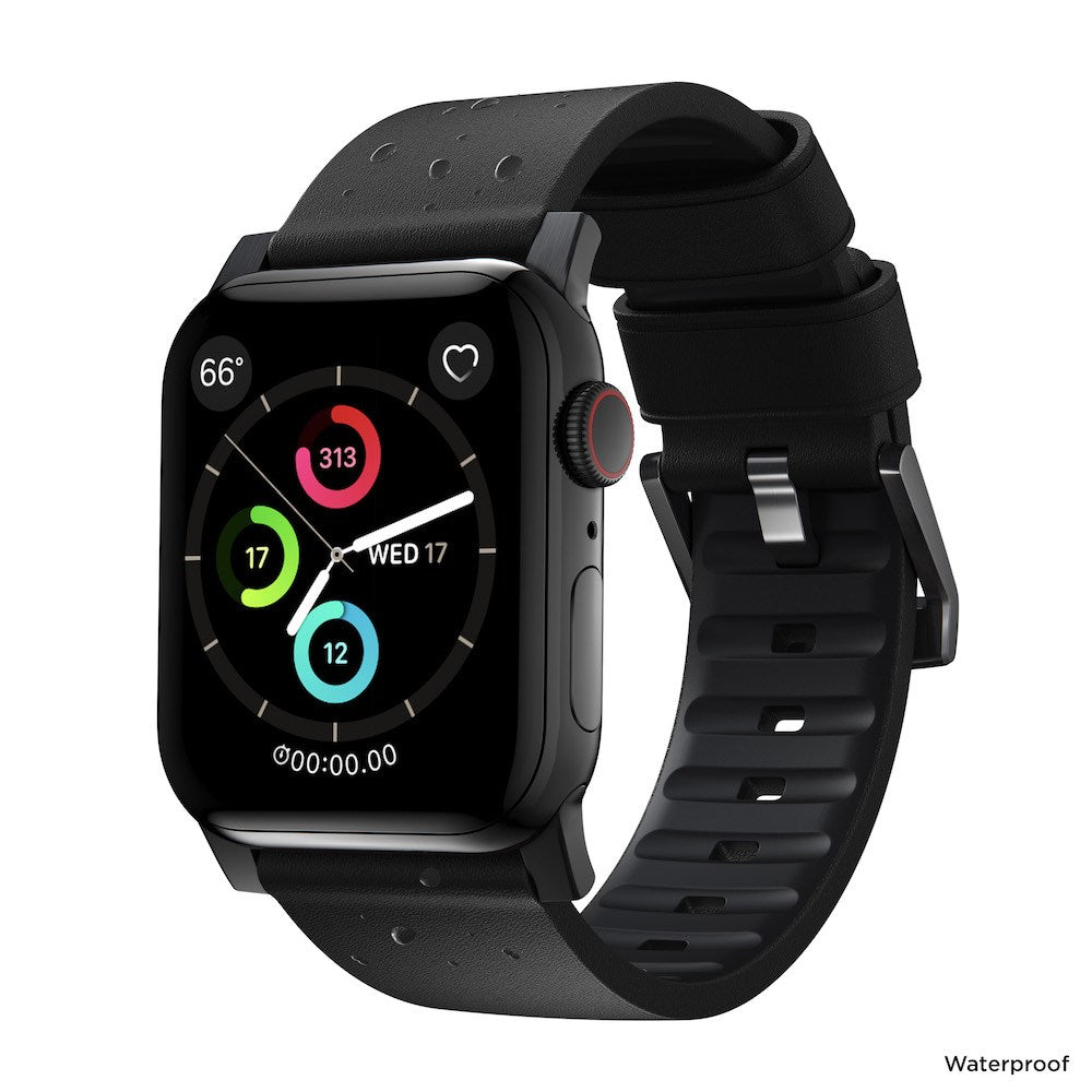 Active Strap Pro - Apple Watch 44/42mm - Black - Black Hardware