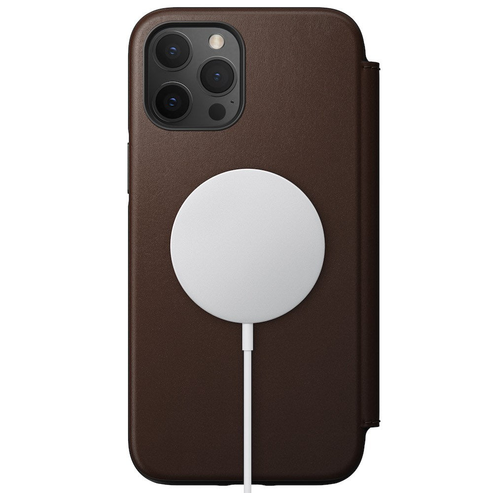 MagSafe Leather Folio - iPhone 12 Pro Max - Rustic Brown