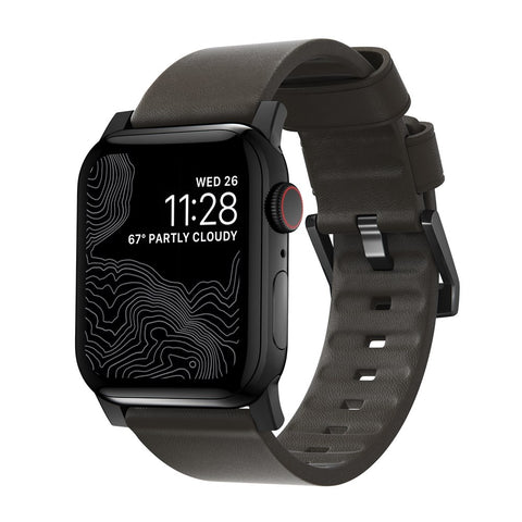 Modern Strap - Active - Apple Watch 44/42mm - Brown - Black Hardware