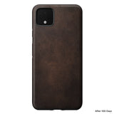 Leather Case - Rugged - Google Pixel 4 XL - Brown