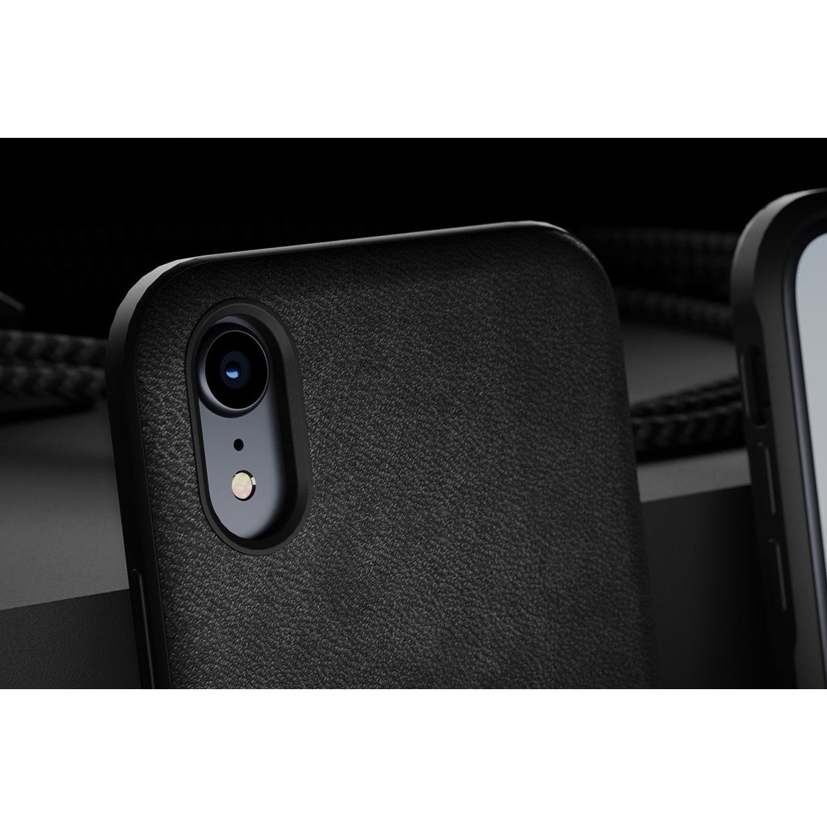 Leather Case - Rugged - iPhone XR - Black