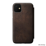 Leather Folio - Rugged - iPhone 11 - Brown