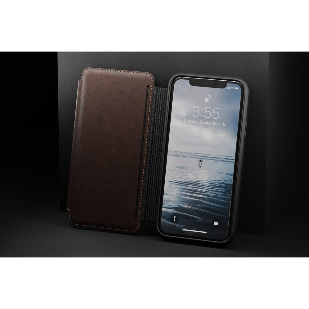 Tri Fold Folio - iPhone XS Max - Rustic Brown