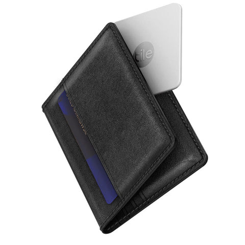 Slim Wallet with Tile - Black